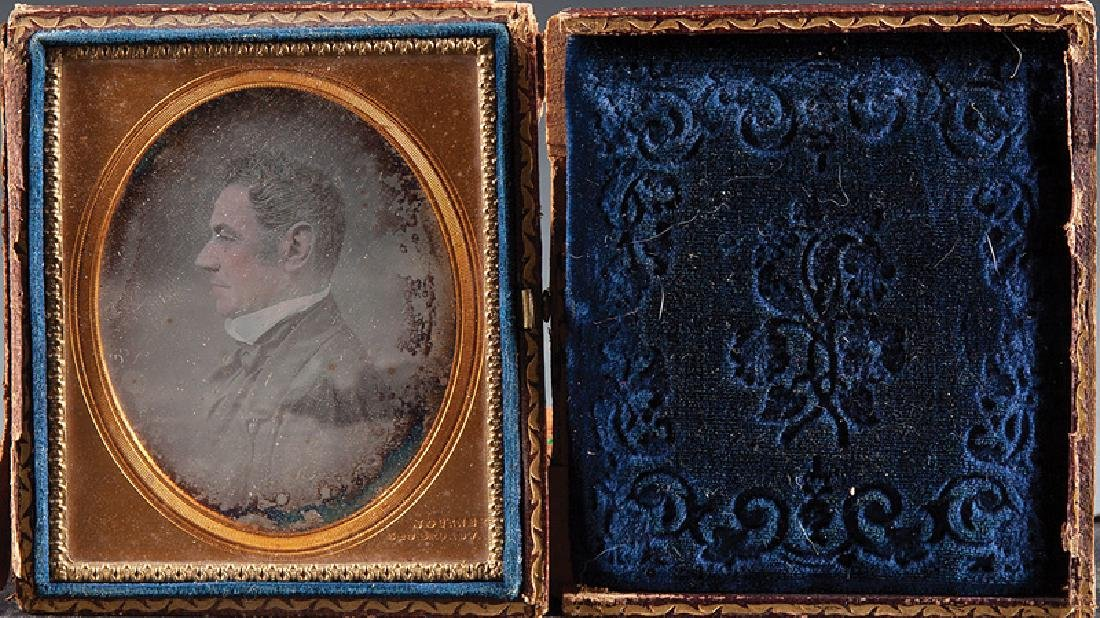 Quarter Plate Daguerreotype of Gov. Roman
