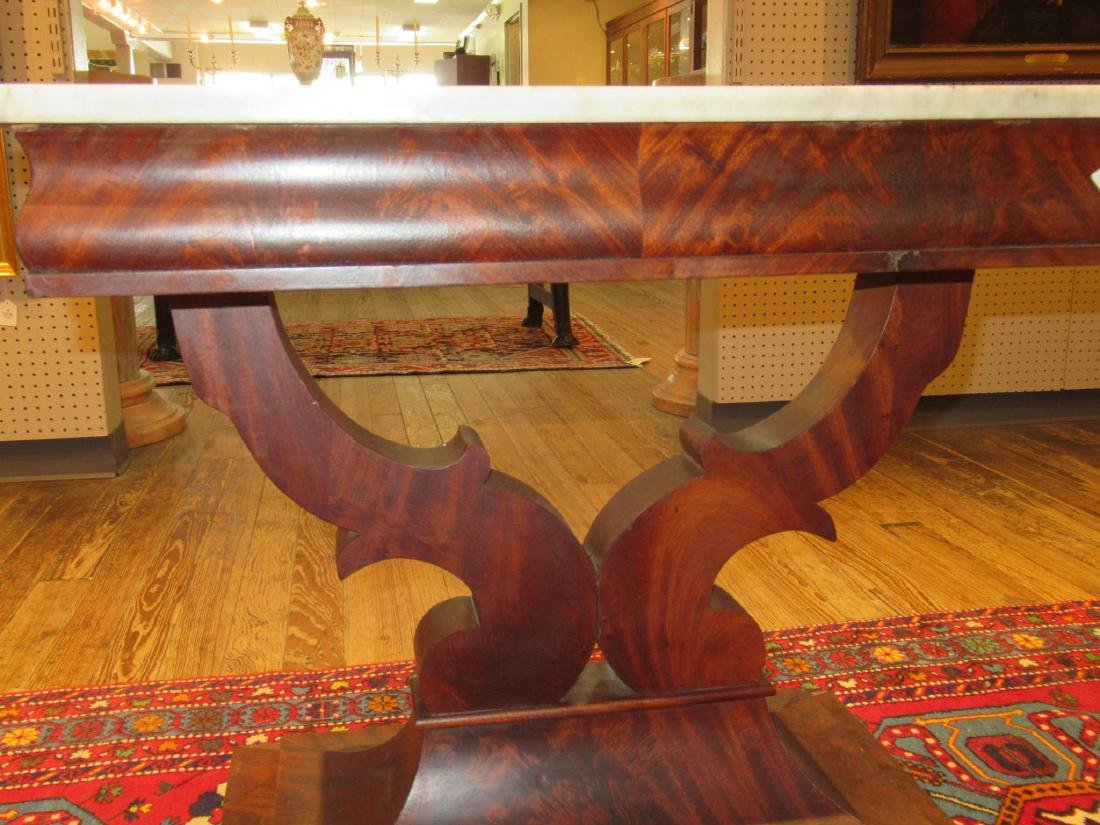American Classical Carved Mahogany Mixing Table - 4