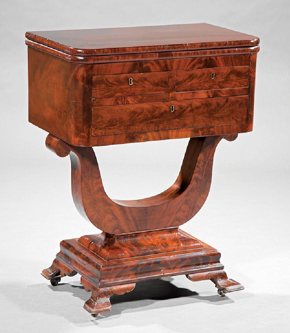 Carved Mahogany Work Table attr. Meeks