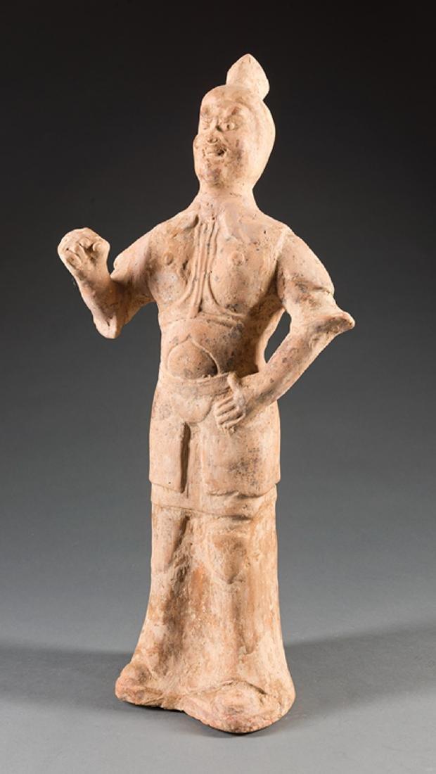 Chinese Tang-Style Pottery Figure of a Lokapala