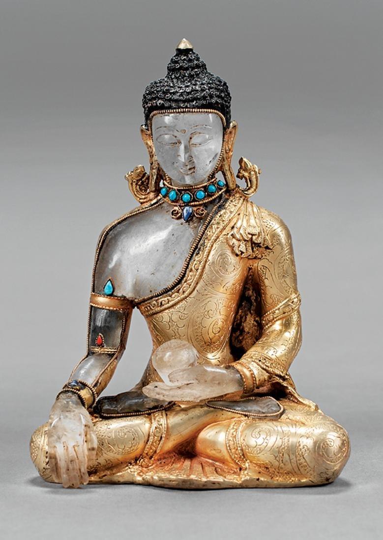 Tibetan or Nepalese Rock Crystal Figure