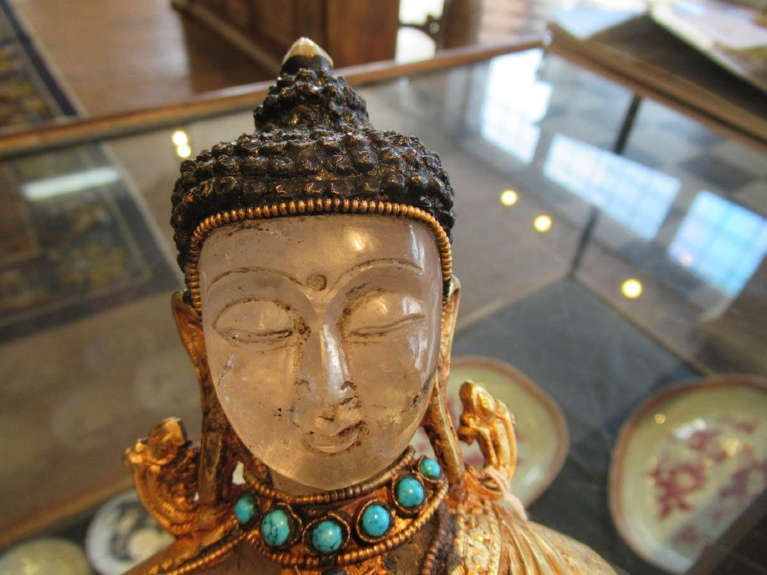 Tibetan or Nepalese Rock Crystal Figure - 3