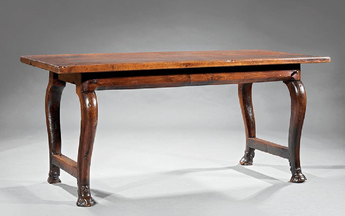 English Carved Walnut Refectory Table