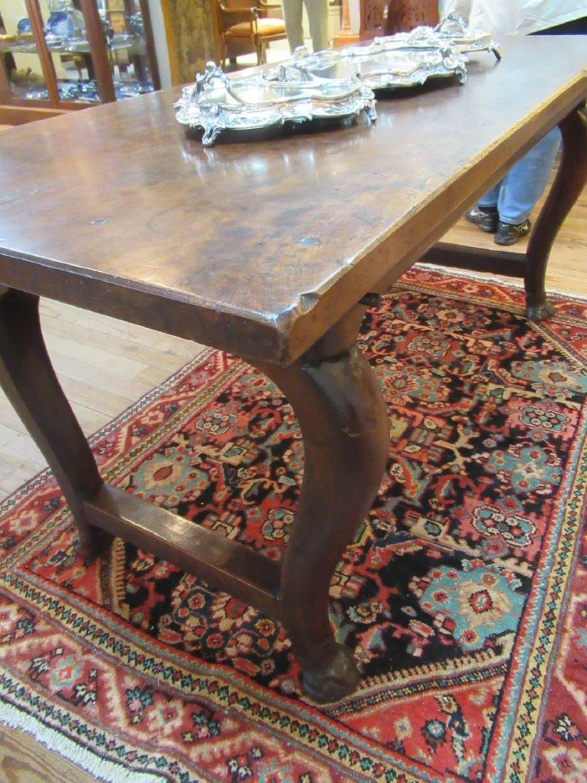 English Carved Walnut Refectory Table - 4
