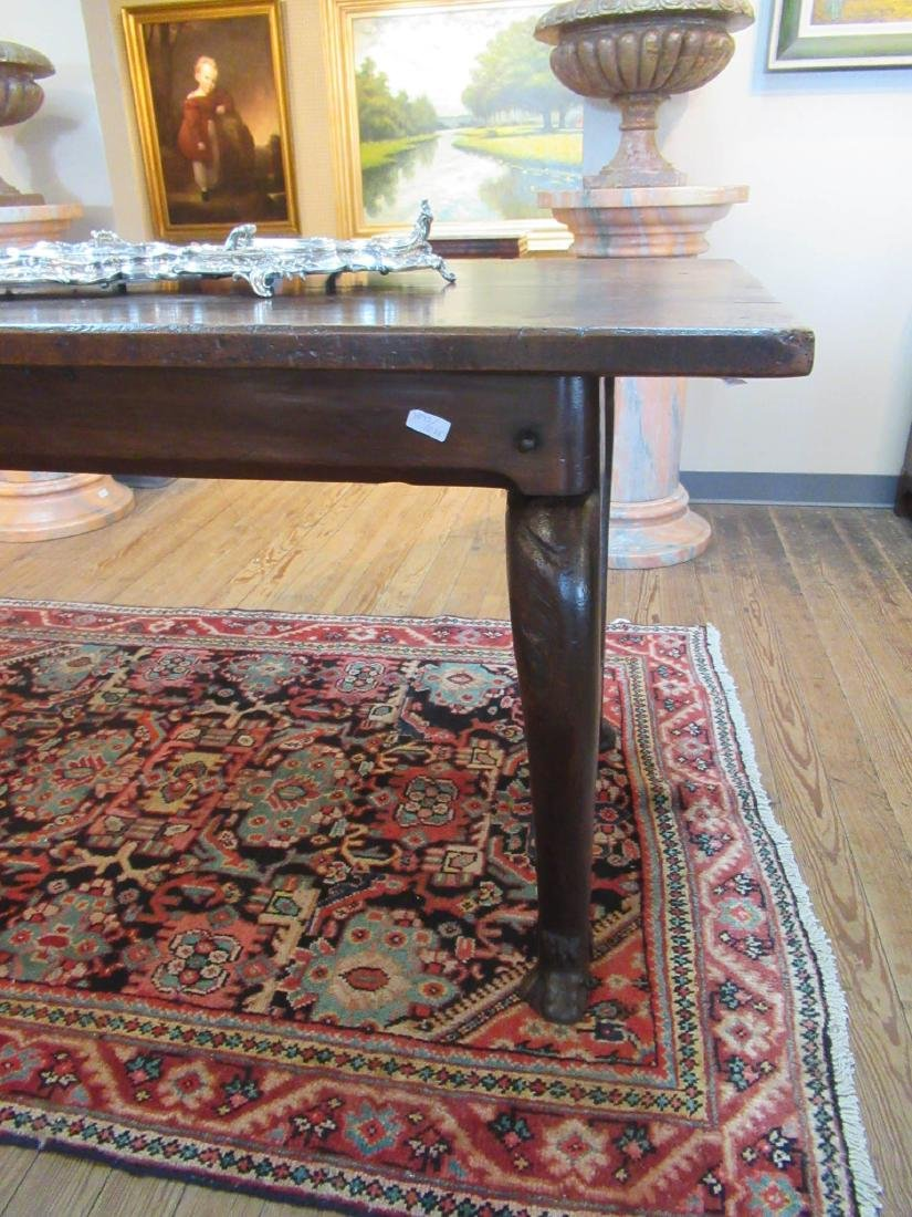 English Carved Walnut Refectory Table - 5
