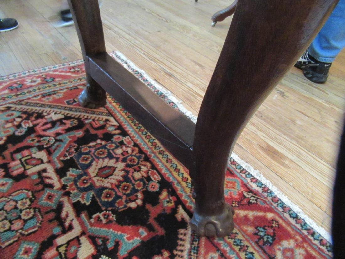 English Carved Walnut Refectory Table - 7