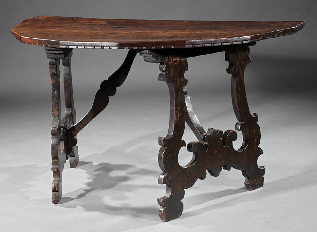 Italian Baroque Walnut Console Tables - 2