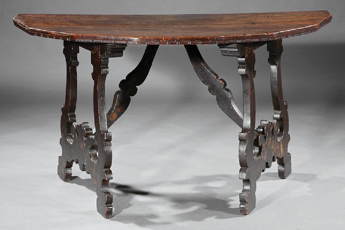 Italian Baroque Walnut Console Tables - 3