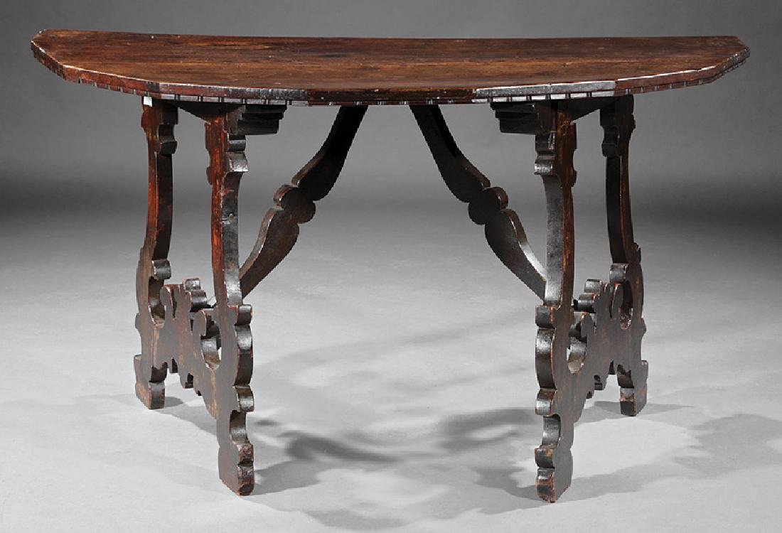 Italian Baroque Walnut Console Tables - 4
