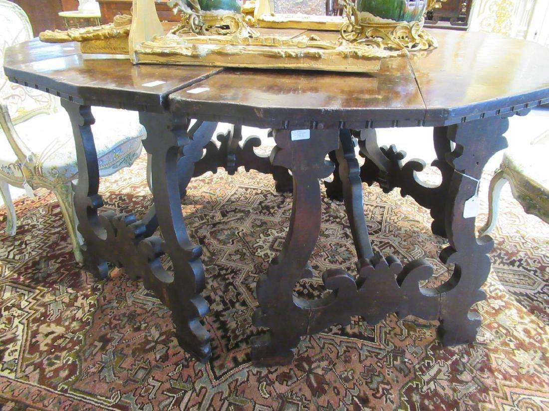 Italian Baroque Walnut Console Tables - 5