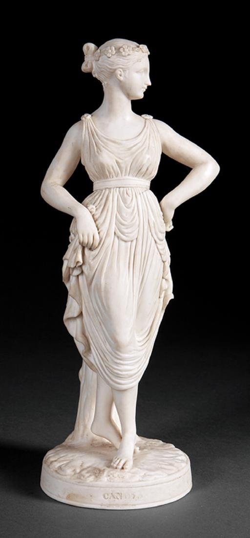 "Minton Parian Figure of a ""Dancing Girl"""