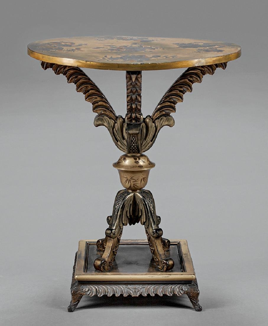 Japonesque Lacquered Wood Occasional Table