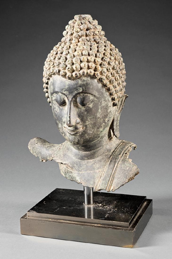 Southeast Asian Iron Buddhist Fragment - 2