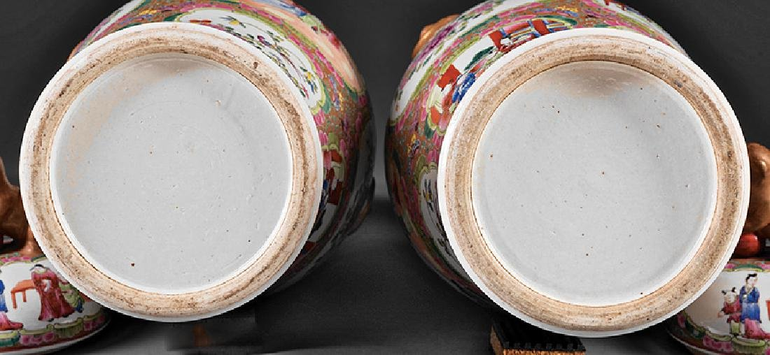 Chinese Famille Rose Porcelain Covered Vases - 3