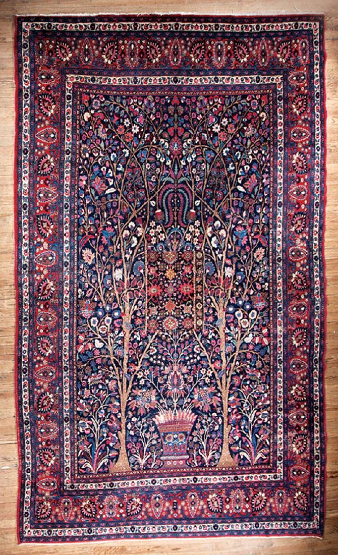 "Semi-Antique Persian ""Tree of Life"" Carpet"