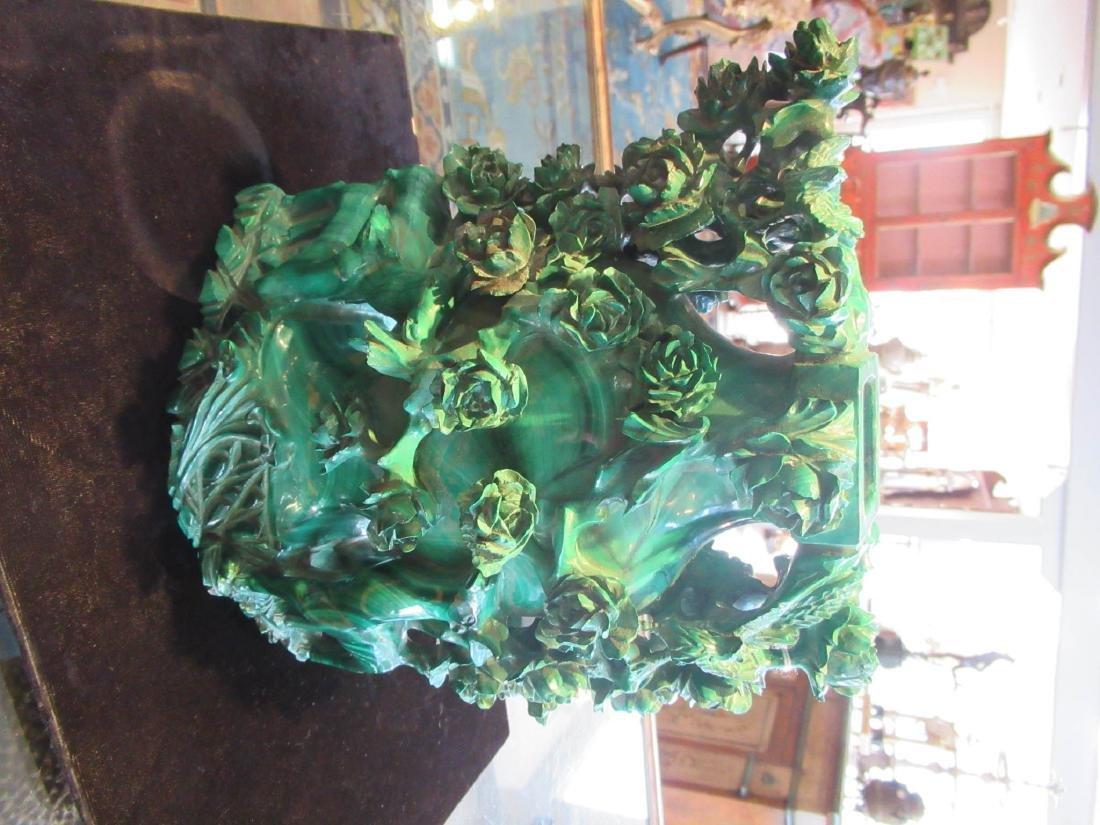 Chinese Malachite Covered Vase - 2