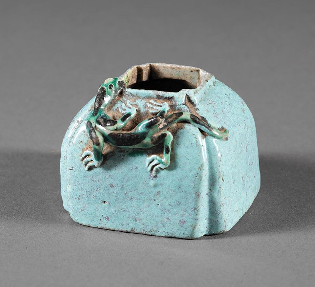 Chinese Turquoise Glazed Porcelain Brush Washer