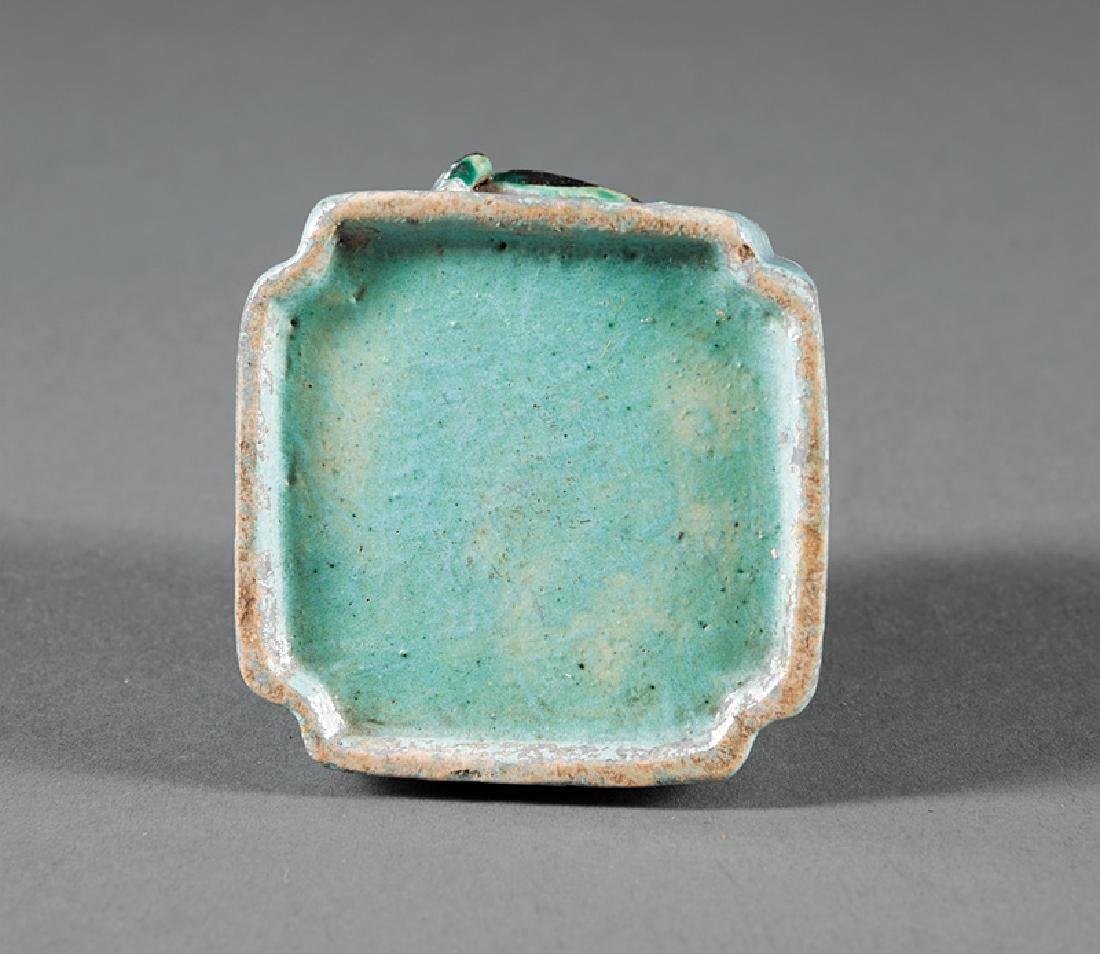 Chinese Turquoise Glazed Porcelain Brush Washer - 2