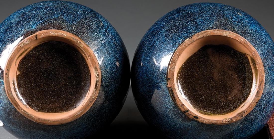 Chinese Junyao-Style Pottery Bottle Vases - 2