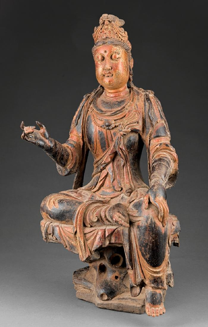 Chinese Dry Lacquer Figure of Guanyin