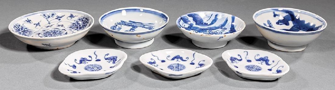 Chinese & Japanese Blue & White Porceclain Dishes