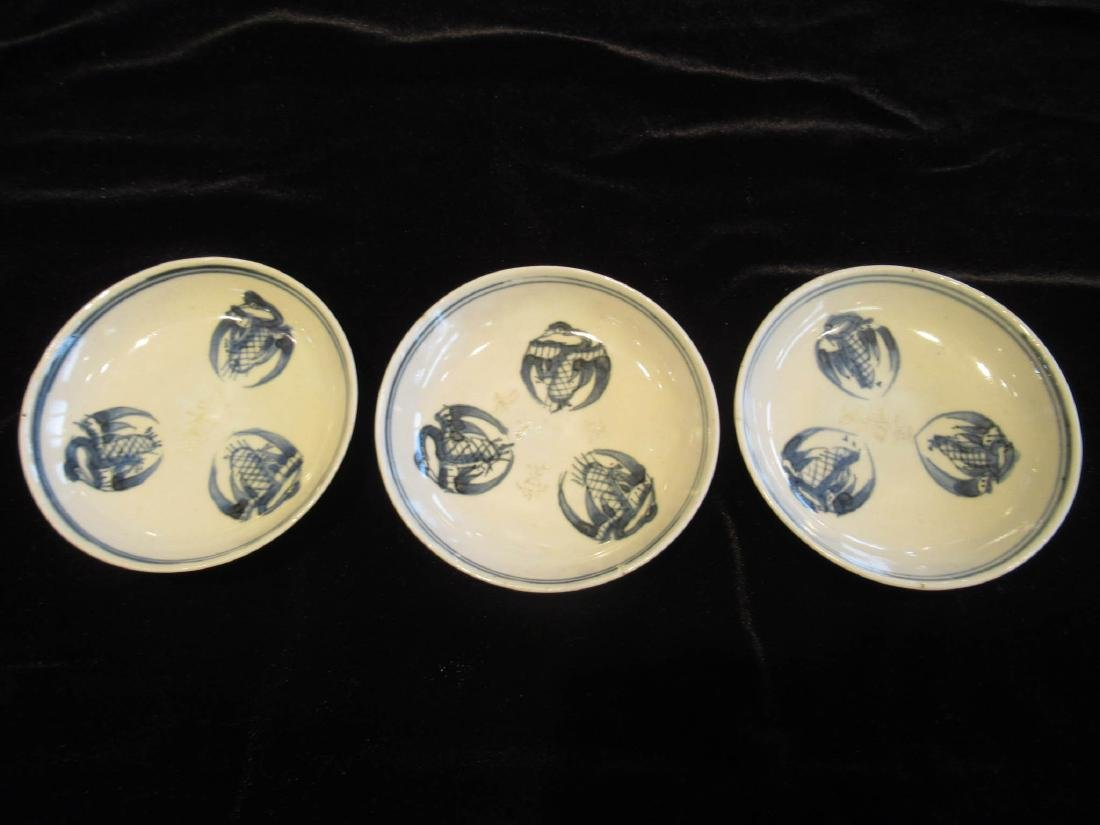 Chinese & Japanese Blue & White Porceclain Dishes - 4