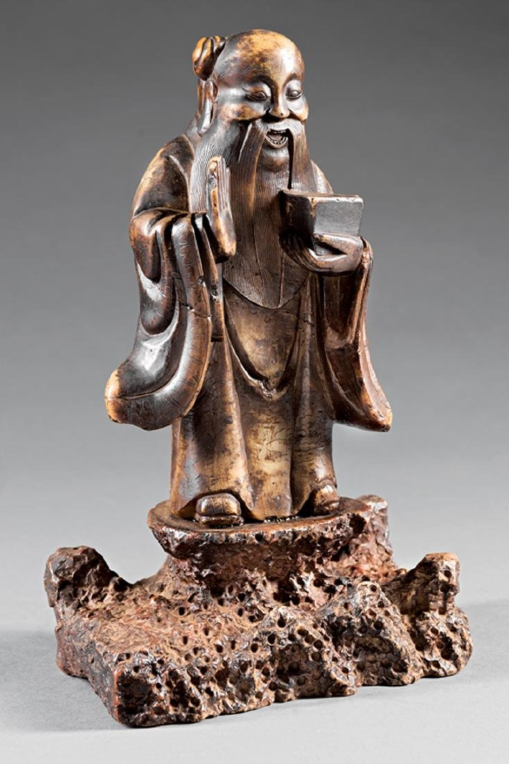 "Chinese Soapstone Figure of a ""Cultured Man"""