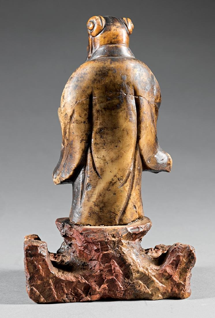 "Chinese Soapstone Figure of a ""Cultured Man"" - 2"