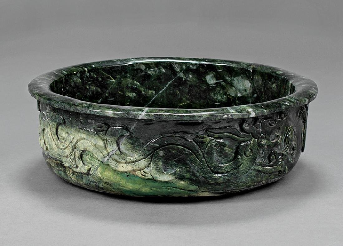 Large Chinese Hardstone Basin