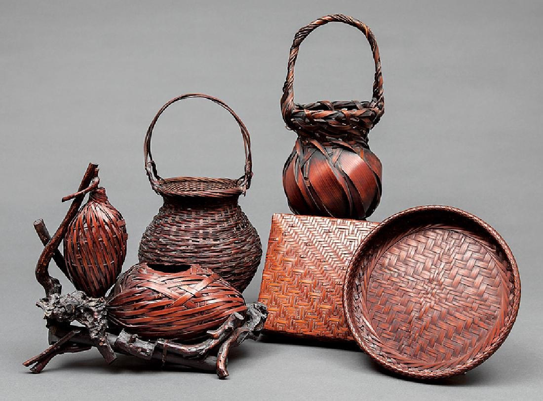 Three Japanese Ikebana Baskets