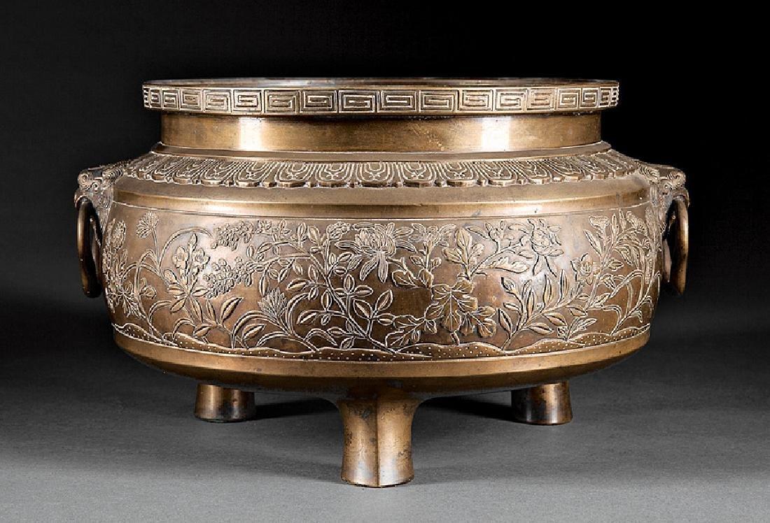 Japanese Brass Tripod Censer