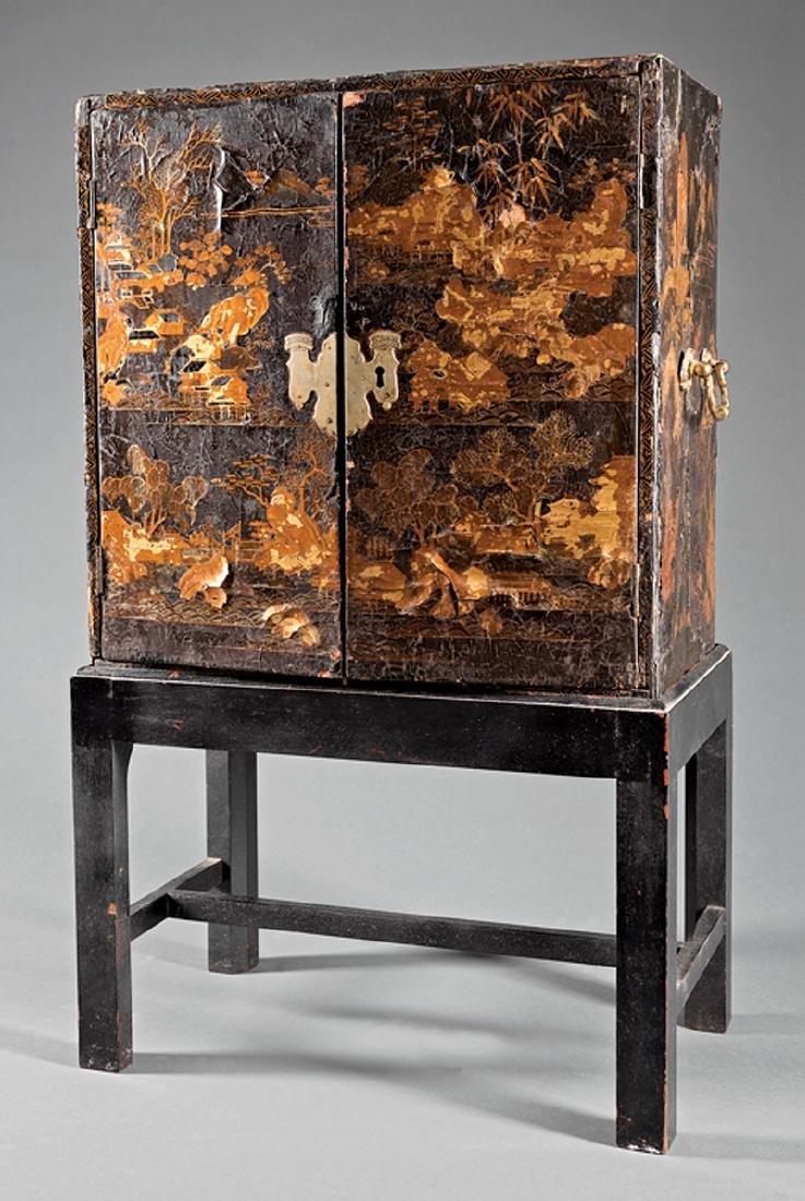 Japanese Black Lacquer Portable Shrine