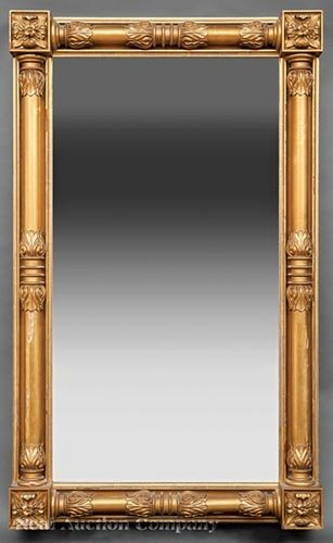 American Classical-Style Carved Giltwood Mirror