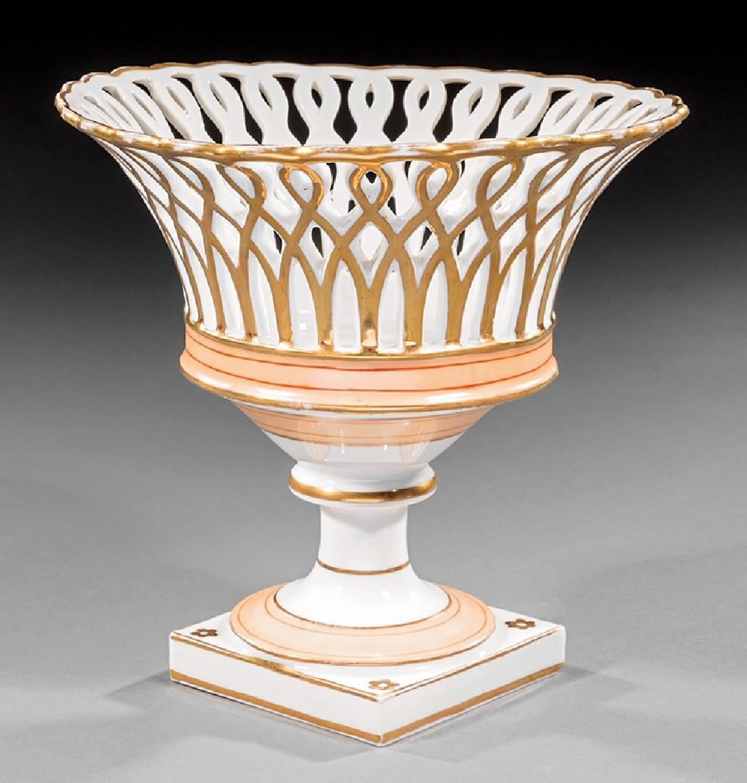 Paris Porcelain Reticulated Corbeille