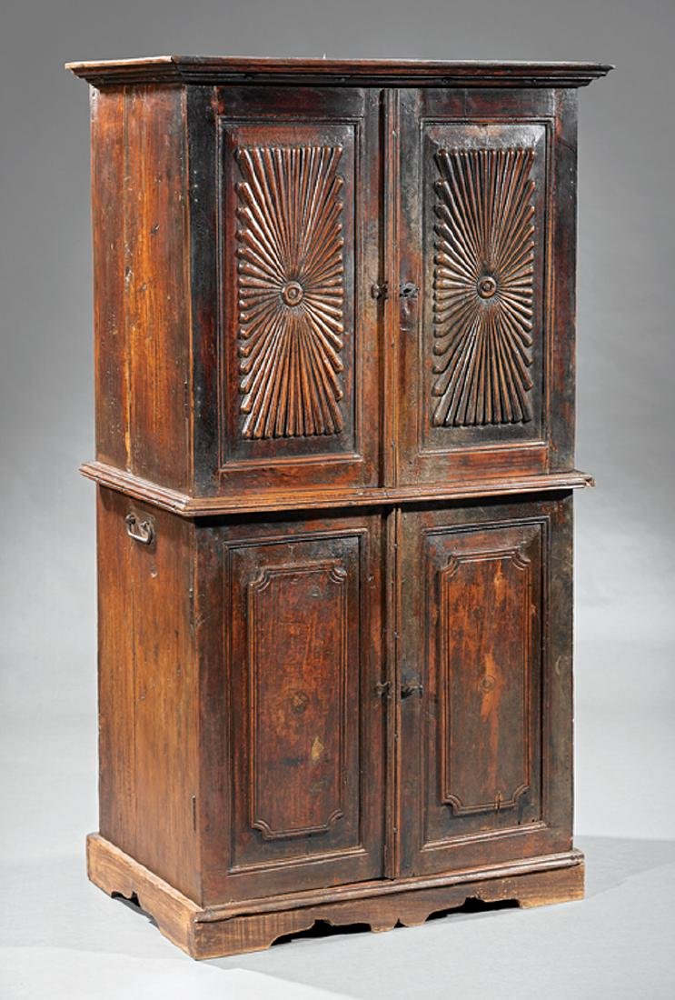 Anglo-Indian Carved Walnut Cabinet