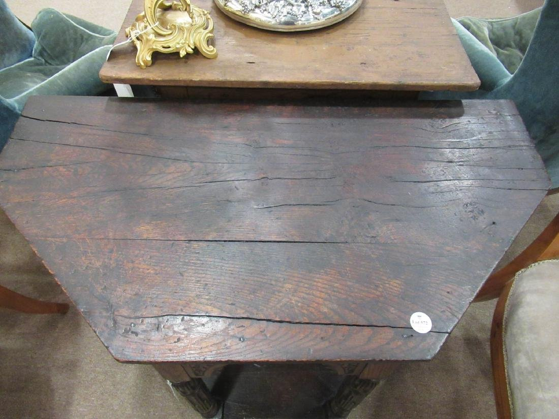 English Carved Walnut Console - 5