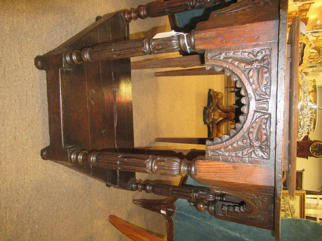 English Carved Walnut Console - 7
