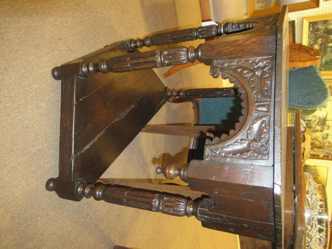 English Carved Walnut Console - 8
