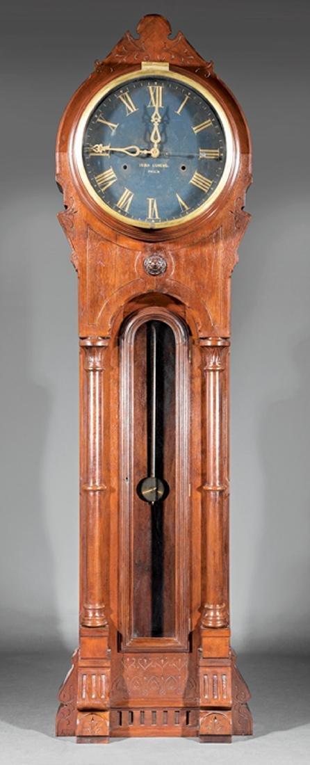 "American Walnut Tall Case Clock, ""Isiah Lukens"""