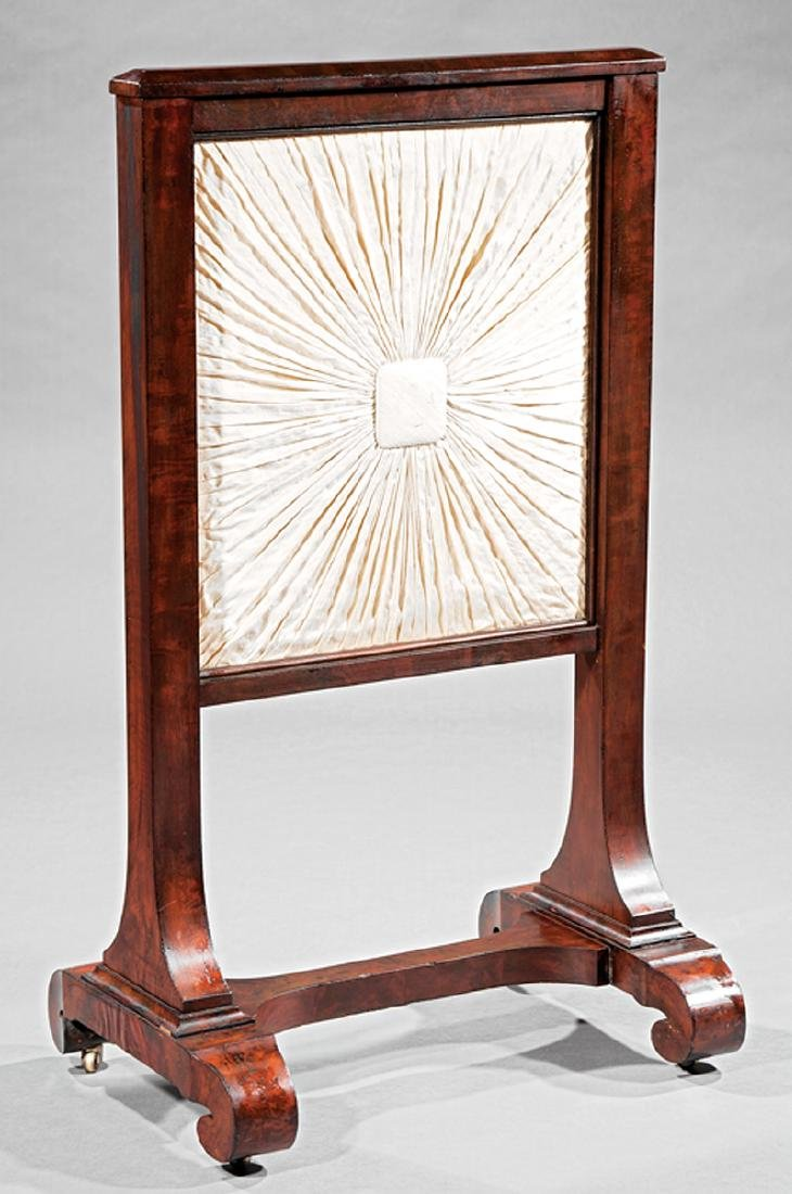 American Classical Mahogany Firescreen