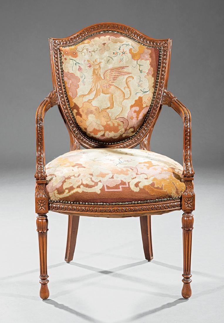 Antique Carved Fruitwood Fauteuil - 2