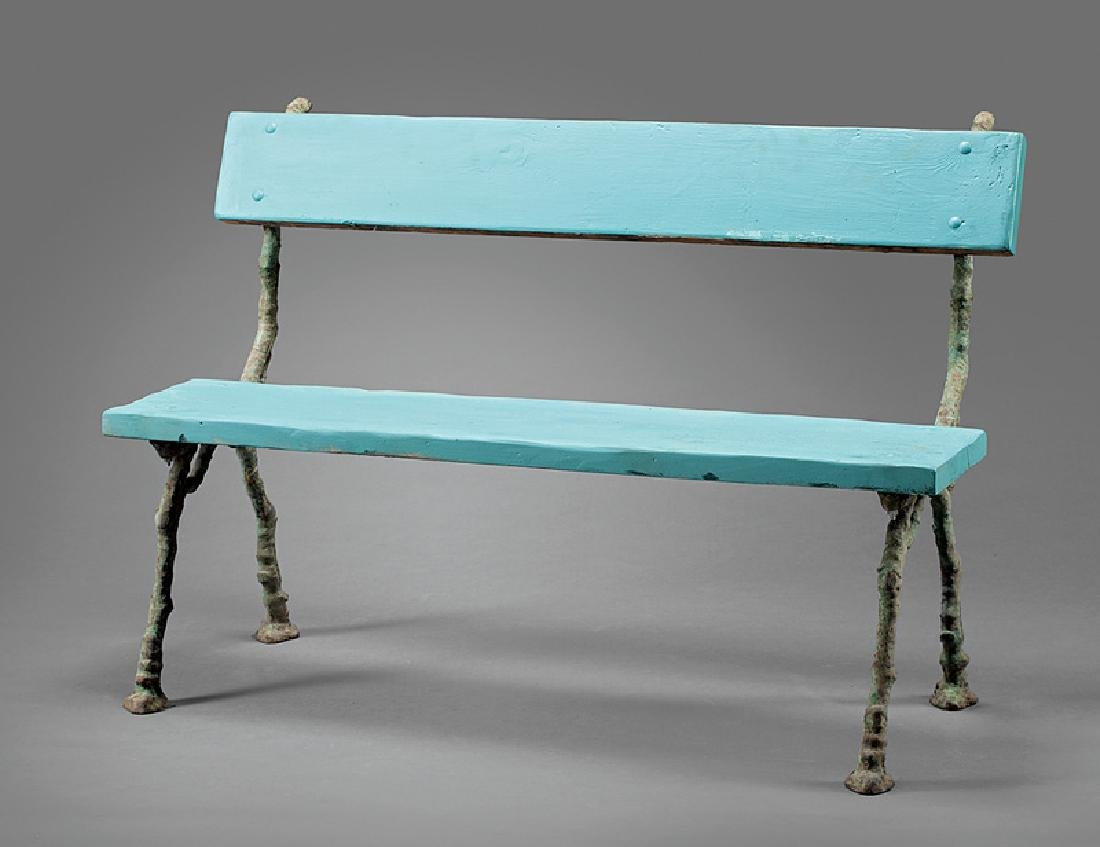 Cast Iron and Wood Garden Bench