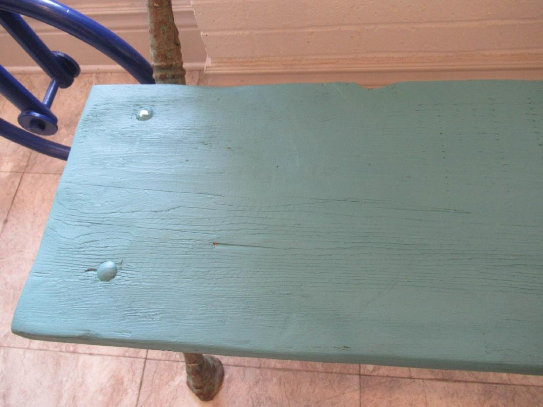 Cast Iron and Wood Garden Bench - 6