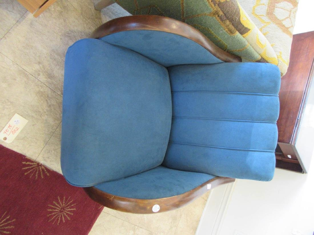 Art Deco Walnut and Suede Club Chairs - 3