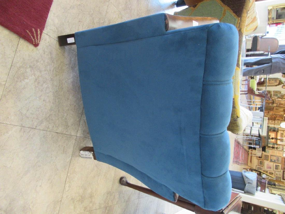 Art Deco Walnut and Suede Club Chairs - 4