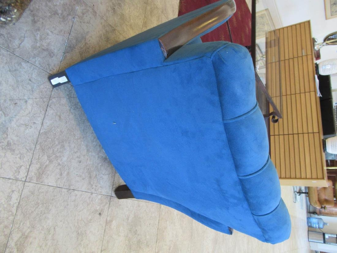 Art Deco Walnut and Suede Club Chairs - 6