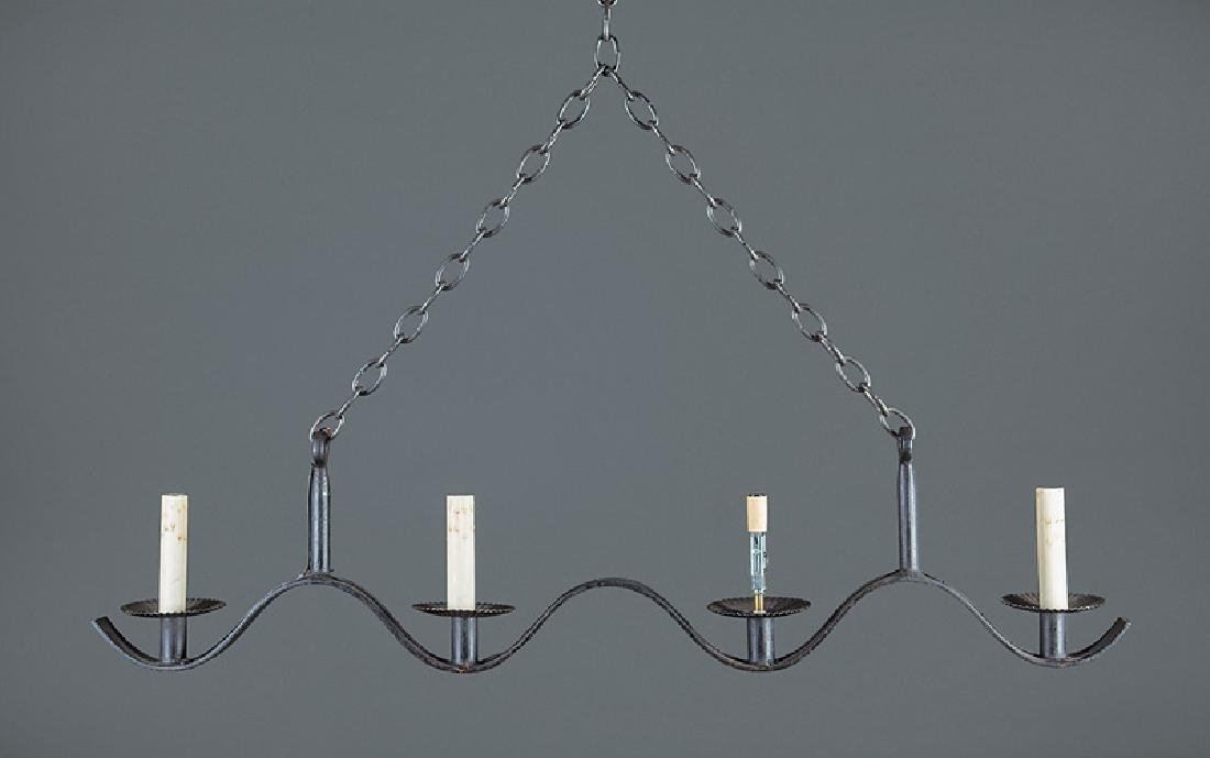 Jean Royère Painted Iron Four-Light Chandeliers