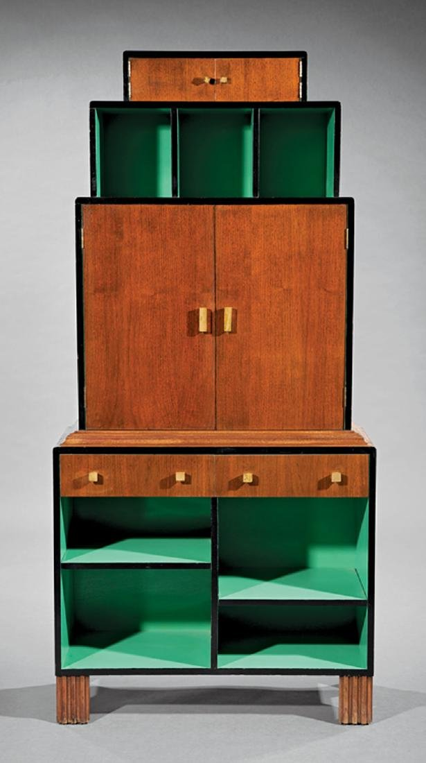Paul T. Frankl Mahogany, Lacquered Wood Bookcase - 2