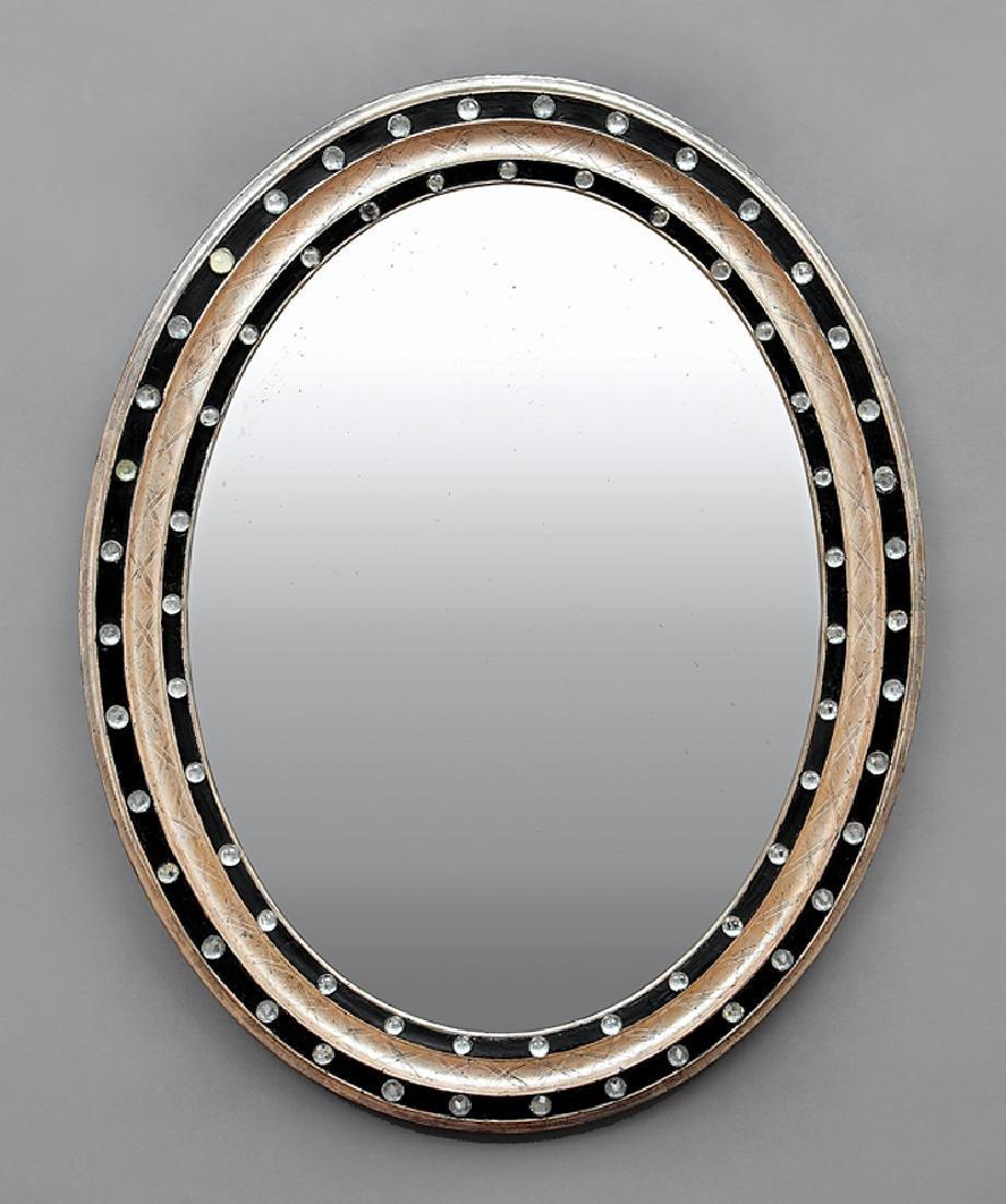 Pair of Italian Silvered and Ebonized Mirrors - 2