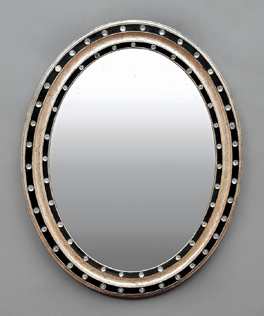 Pair of Italian Silvered and Ebonized Mirrors - 2